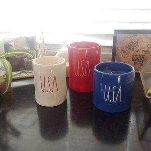 Rae Dunn USA Patriotic Candles